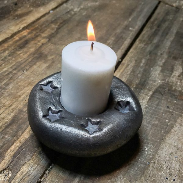 Forged votive candle holder - Star decoration
